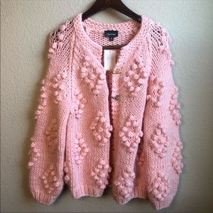 ModCloth textured chunky knit cardigan sweater